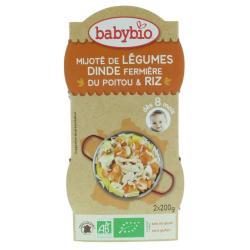 Groenten kalkoen rijst 8 maanden 200 gram