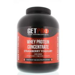 Whey protein concentrate strawberry yoghurt