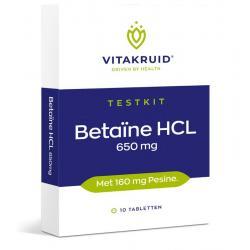 Betaine HCL 650 mg & pepsine 160 mg testkit