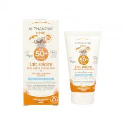 Sun zonnebrand milk baby SPF50 zonder parfum bio