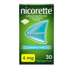 Kauwgom 4 mg menthol mint
