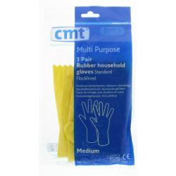 Huishoudhandschoen rubber geel M