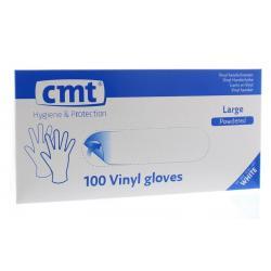 Onderzoekshandschoen vinyl gepoederd L