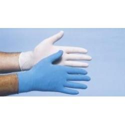 Onderzoekshandschoen vinyl blauw gepoederd S