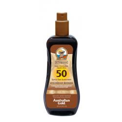 Spray gel bronzer SPF50