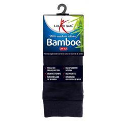 Bamboe sok lang blauw 39-42