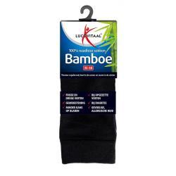 Bamboe sok lang zwart 35-38