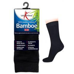 Bamboe sok lang zwart 47-50