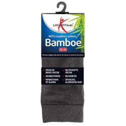 Bamboe sok lang antraciet 43-46