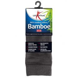 Bamboe sok lang antraciet 35-38